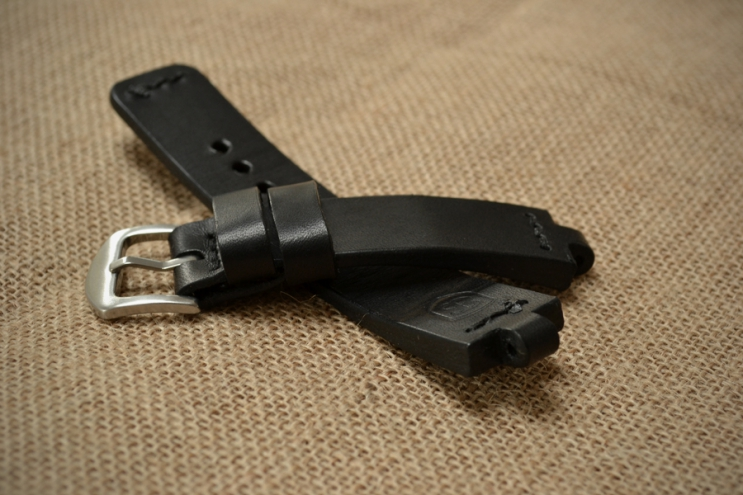 Leather watch strap for Bvlgari Diagono