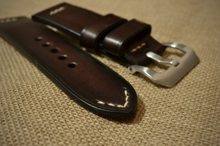 Burgundy watch strap